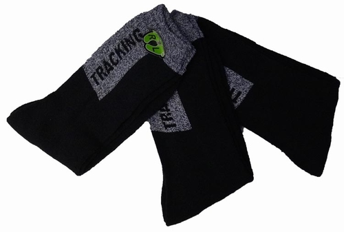 """Tracking sokken """"  Zwart / grijs  """"  3 paar"""