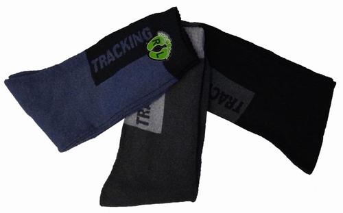 """Tracking sokken """"  Zwart / grijs / blauw  """"  3 paar"""