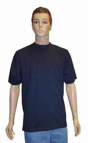 """Grote maten T-shirt met ronde hals   """" Donker blauw """""""