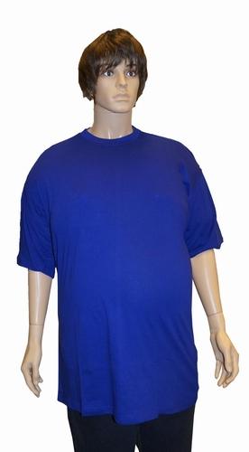 """T-shirt met ronde hals  EXTRA LANG  """" Kamro """"   Kobalt"""