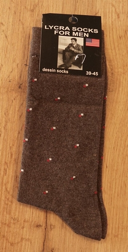 """1 paar heren sokken  """"  Figuur """" bruin"""
