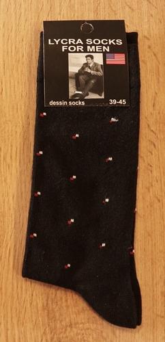 """1 paar heren sokken  """"  Figuur """" zwart"""