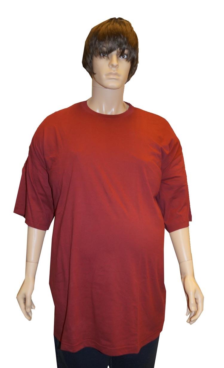 """Grote maten T-shirt met ronde hals   """" Bordeaux rood """""""
