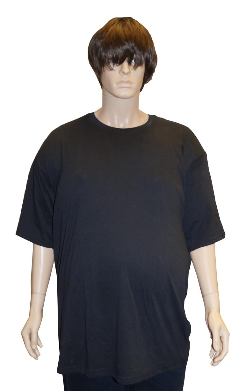 """Grote maten T-shirt met ronde hals   """" Zwart """""""