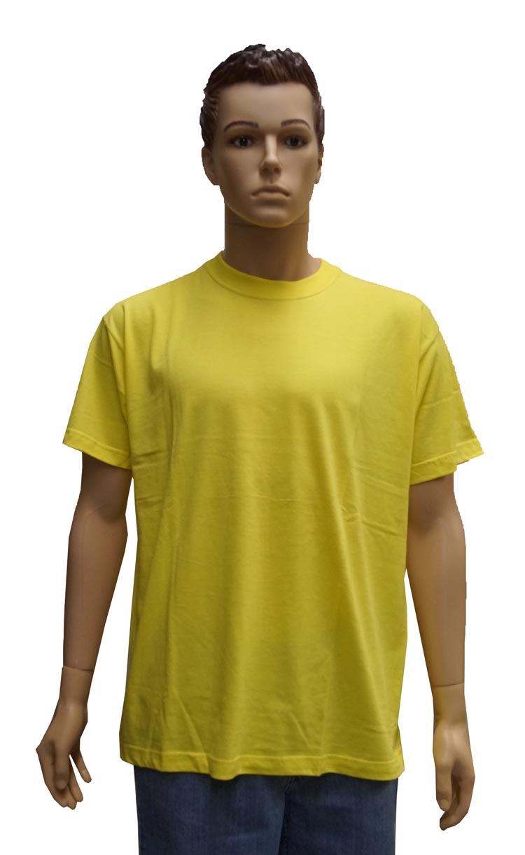 """T-shirt met ronde hals   """" Geel """""""
