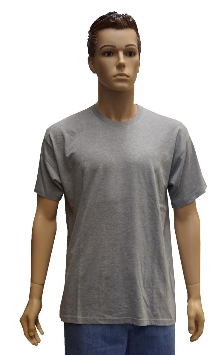 """T-shirt met ronde hals  """"  Licht grijs """""""