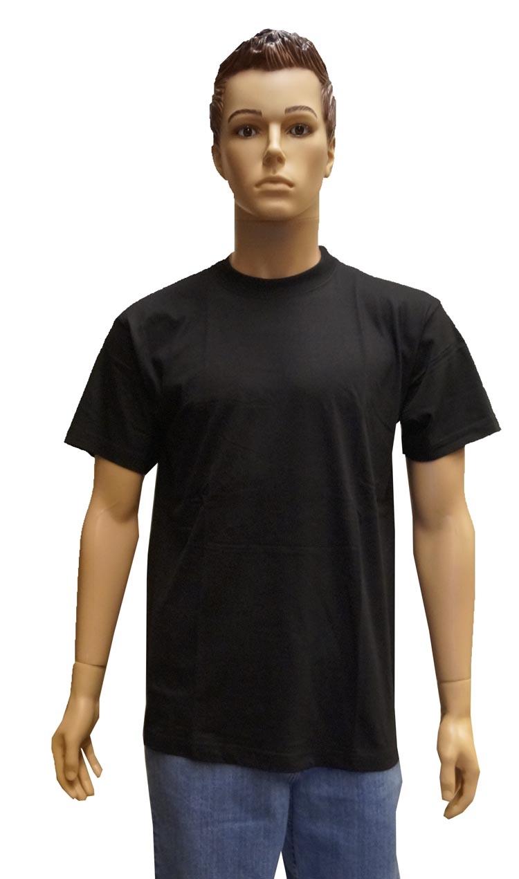 """T-shirt met ronde hals   """" Zwart """""""