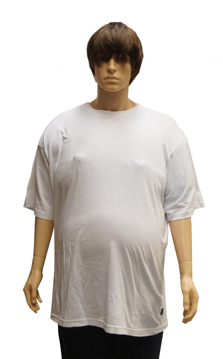 """T-shirt met ronde hals  EXTRA LANG  """" Kamro """"   Wit"""