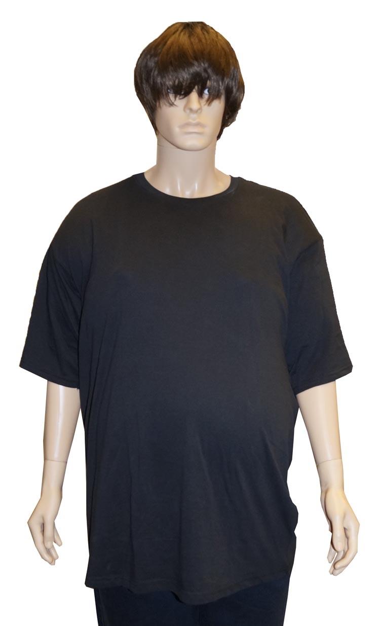 "T-shirt met ronde hals  EXTRA LANG  "" Kamro ""   Zwart"