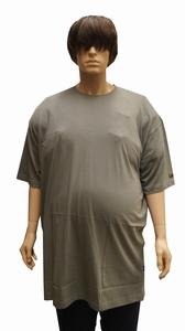 "T-shirt met ronde hals  EXTRA LANG  "" Kamro ""   Olijf"